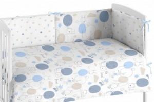 Edredón para bebés azul 005