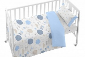 Juego de funda nórdica bebé azul 005