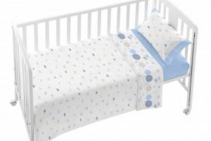 Juego de sábanas de bebé azul 005
