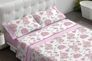 Juego sábanas color Rosa 692