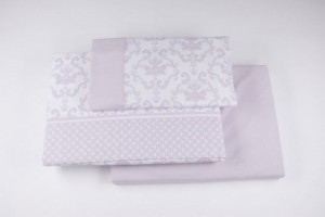 Juego de sábanas de franela 553 Rosa palo