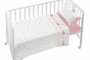 Juego de sábanas de bebé rosa 005