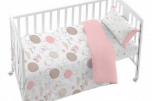 Juego de funda nórdica bebé rosa 005