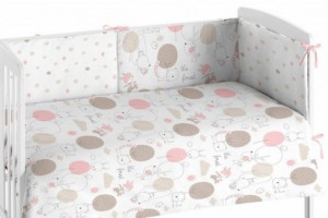 Edredón para bebés rosa 005