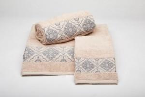 Juego de toallas rosa 190