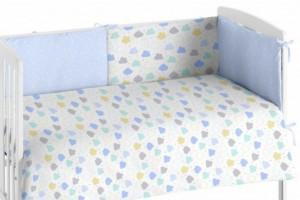 Edredón para bebés con protector 008 Azul