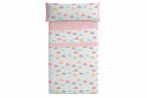 Juego de sábanas infantil color rosa - Burrito Blanco