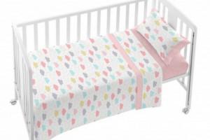 Consigue el juego de sábanas de bebe color rosa - Burrito Blanco