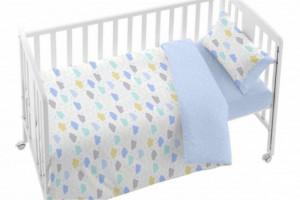 Descubre el juego de funda nórdica bebé azul - Burrito Blanco