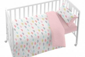 Consigue el juego de funda nórdica bebé rosa - Burrito Blanco