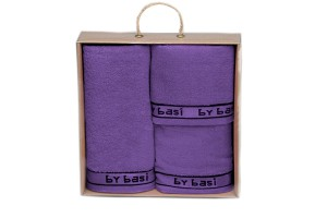 Juego de toallas By Basi color Azul 003