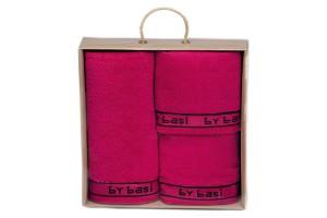 Juego de toallas By Basi color Fúcsia 003