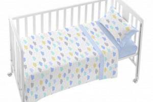 Descubre el juego de sábanas de bebé azul - Burrito Blanco