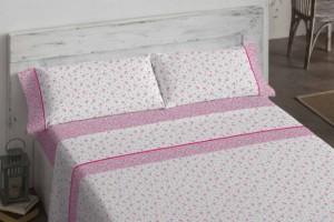 Juego de sábanas de color rosa - Burrito Blanco