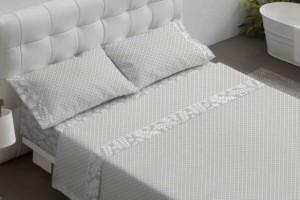 Juego de sábanas de color gris - Burrito Blanco