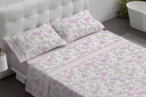 Juego de sábanas estampadas rosa - Burrito Blanco