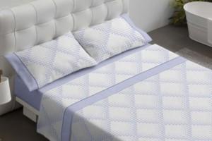 Juego de sábanas estampadas azul - Burrito Blanco
