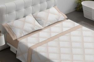 Juego de sábanas estampado color beige - Burrito Blanco