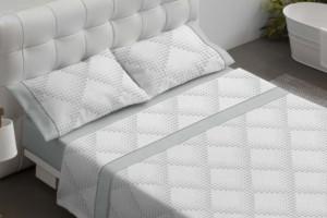 Juego de sábanas estampadas gris - Burrito Blanco