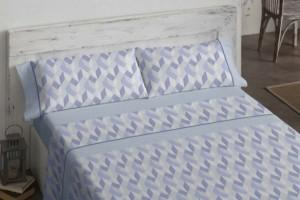 Juego de sábanas estampado azul - Burrito Blanco