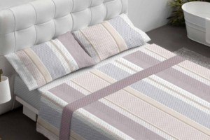 Juego sábanas estampado beige - Burrito Blanco
