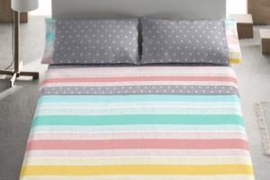 Juego sábanas estampado multicolor - Burrito Blanco