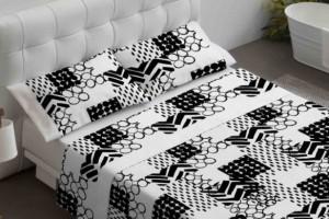 Juego sábanas estampado negro - Burrito Blanco