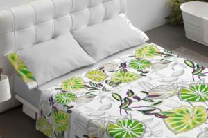 Juego sábanas estampado verde - Burrito Blanco