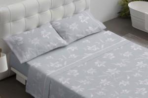 Juego de sábanas estampado gris - Burrito Blanco