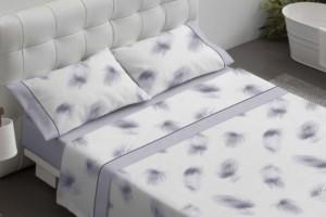 Juego de sábanas de color azul - Burrito Blanco