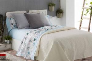 Juego sábanas estampado de color turquesa - Burrito Blanco