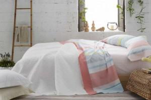 Juego sábanas estampado color coral - Burrito Blanco