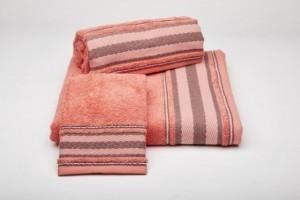 Juego de toallas color coral 191