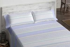 Sábanas de franela premium 556 azul de Burrito Blanco