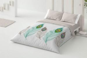 Funda nórdica de diseño 362 turquesa de Burrito Blanco