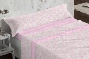 Juego de sábanas de coralina rosa 957 muy suave y cálido de Burrito Blanco