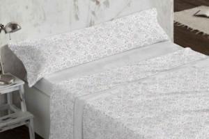 Juego de sábanas de coralina gris 957 muy suave y cálido de Burrito Blanco