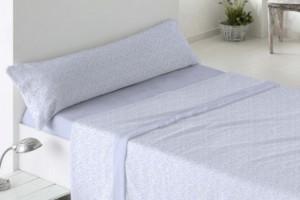 Juego de sábanas de coralina azul 958 muy suave y cálido de Burrito Blanco