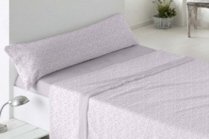 Juego de sábanas de coralina malva 958 muy suave y cálido de Burrito Blanco