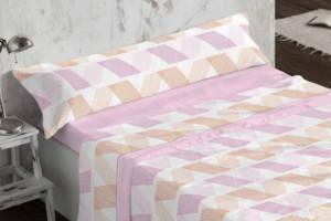 Juego de sábanas de coralina rosa 959 muy suave y cálido de Burrito Blanco