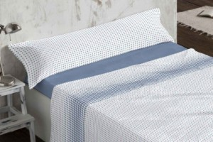 Juego de sábanas de coralina azul 960 muy suave y cálido de Burrito Blanco