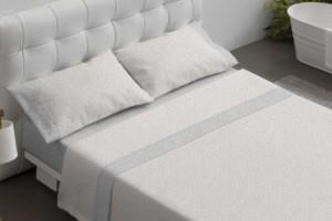 Juego de sábanas 100% algodón 603 Gris de Burrito Blanco