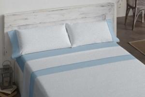 Juego de sábanas 483 azul de Burrito Blanco