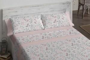 Juego de sábanas 484 rosa  de Burrito Blanco