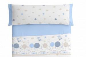 Juego de sábanas azul 005