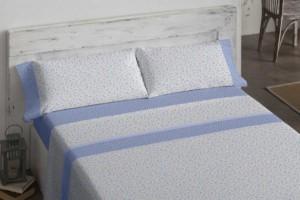 Juego de sábanas 487 Azul de Burrito Blanco