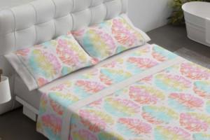 Juego de sábanas juveniles 111 Multicolor de Burrito Blanco
