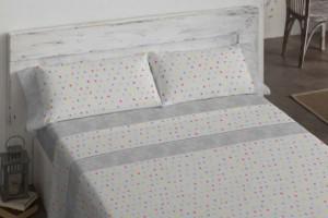 Juego sábanas de color gris 113 - Burrito Blanco