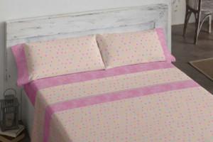 Juego de sábanas juveniles 113 Rosa de Burrito Blanco