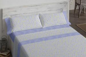 Juego de sábanas juveniles 113 Azul de Burrito Blanco